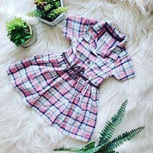 { carter's } plaid baby girl shirt dress